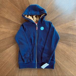 NWT Boys Carter's Fleece Lined Zip-Up Sweatshirt 8